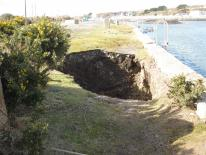 Partial collapse of the Carnsew Quay wall